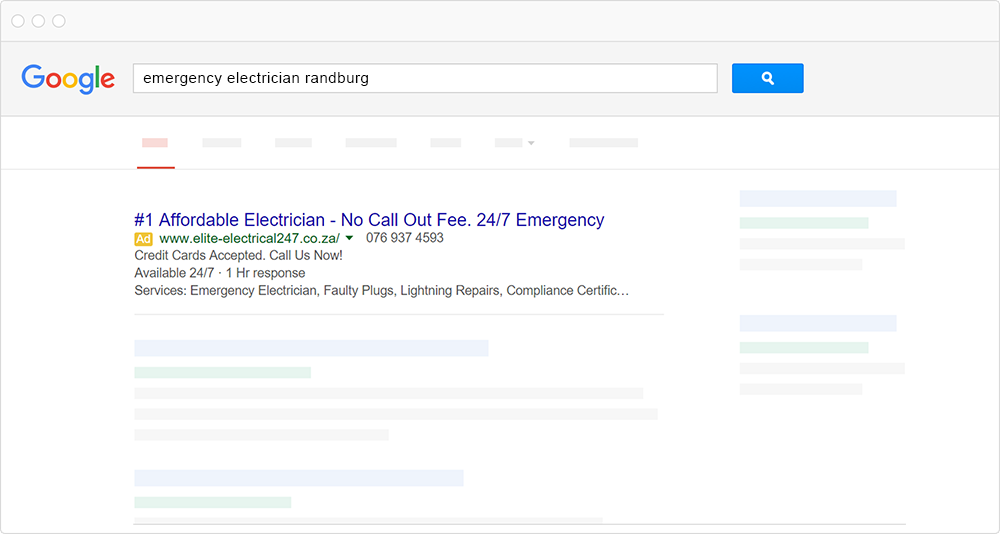 google adwords browser example